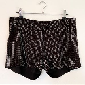 UMGEE Black & Silver Studded Bedazzled Shorts